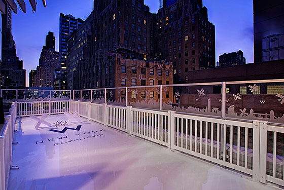 W hotel ice rink
